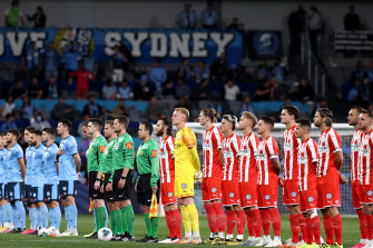 Sydney FC and Melbourne City played last year's grand final at Bankwest Stadium.