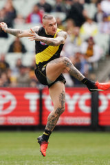 Dustin Martin starred for the Tigers.