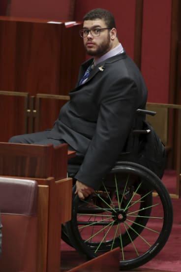 Senator Jordon Steele-John in the Senate in September this year.