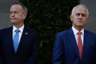 Opposition Leader Bill Shorten and then-Prime Minister Malcolm Turnbull in February 2018.