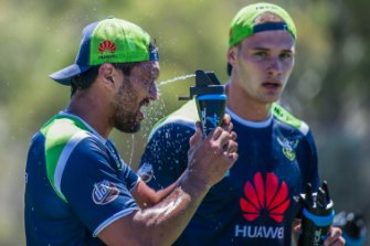 The Canberra Raiders train in the summer heat. The Climate Council says climate change threatens the viability of some sports as they are currently played.
