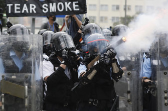 Denise Ho was among protesters who were tear gassed by Hong Kong police outside government headquarters on June 12.