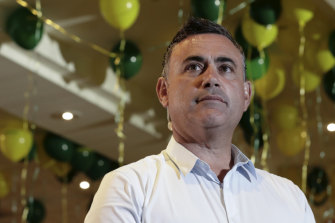 NSW Deputy Premier John Barilaro at his election night function.