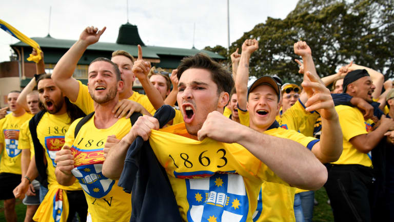 Sydney University fans didn't care their side was maligned by the rest of the crowd.