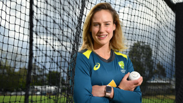 Net gain: Ellyse Perry has set the standard for cricket this year.