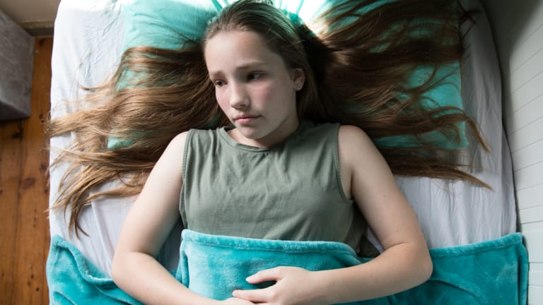 Mia Guille, 14, has taken melatonin on and off to help her sleep since she was nine.