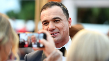 Shannon Noll, pictured here at the 2018 Logie Awards, has been arrested for drug possession.
