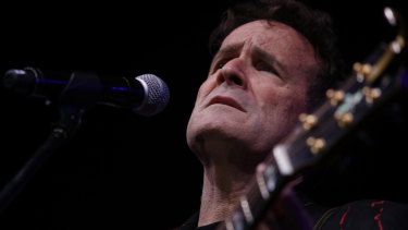 """""""White Zulu"""" Johnny Clegg performs in Johannesburg during his farewell concert  in 2017."""