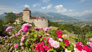 The castle of Vaduz, residence of the Prince of Liechtenstein.