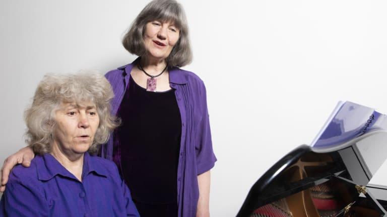 A Chorus of Women musical director, Johanna McBride,left, and composer, Glenda Cloughley.