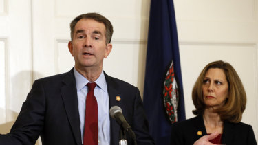 Virginia Governor Ralph Northam, pictured with his wife, Pam, is facing calls to resign.