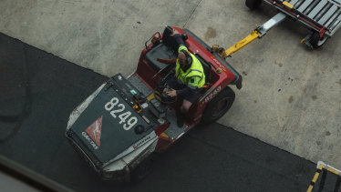 Qantas says 2000 more jobs will go with the outsourcing of all ground handling work.