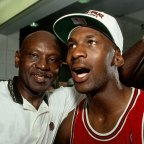 Michael Jordan, right, with his father James Jordan, left, who was killed at the height of his son's fame.