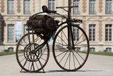 MOTO A VAPEUR-MUSEE ILE DE FRANCE Michaux - Perreaux steam vélocipède 1869 Collection du musée du domaine départemental. It will be part of Brisbane'sGallery of Modern Art (GOMA) 'The Motorcycle: Design, Art, Desire' exhibition.Photograph: Olivier Ravoire.