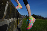 Karen Clements - fitness enthusiastwearing the right shoes for herCOVID exercise routine.COVID-19 Coronavirus Pandemic. 18th May 2020 The Age News Picture by JOE ARMAO
