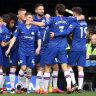 Chelsea hand Ancelotti's Everton a 4-0 drubbing, Manchester United win derby