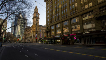 Melbourne CBD was empty during lockdown, contributing to people moving away to find work.