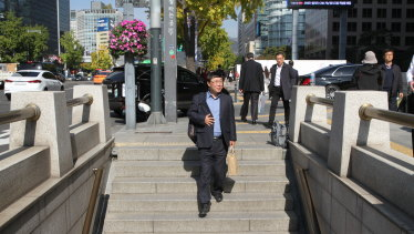 North Korean defector Seong Ha-joo in central Seoul.