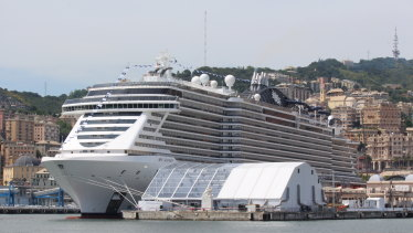 Floating hotel: MSC Cruises will provide two liners for the World Cup in Qatar.