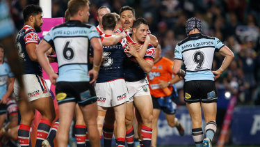 Nerveless: Cooper Cronk adds a try to an impressive night.