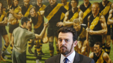 Man with a plan: Richmond CEO Brendon Gale.