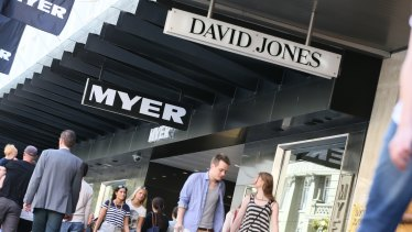 David Jones and Myer also have plans to exit expensive leases.