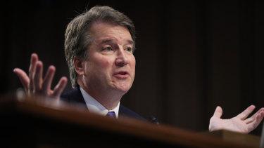 Supreme Court nominee Brett Kavanaugh testifies before the Senate Judiciary Committee on Capitol Hill in Washington.