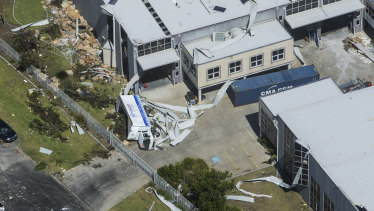 Sydney's desalination plant took a  direct hit from a tornado that touched down in December 2015.
