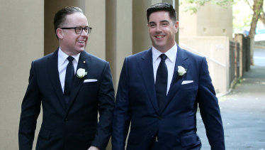 Qantas boss Alan Joyce married his partner of two decades Shane Lloyd at Sydney's Museum of Contemporary Art.