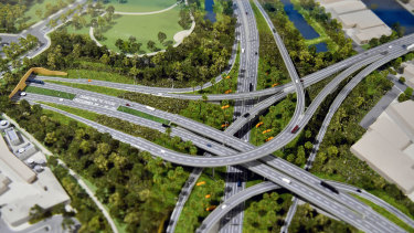 A model of the St Peters interchange.