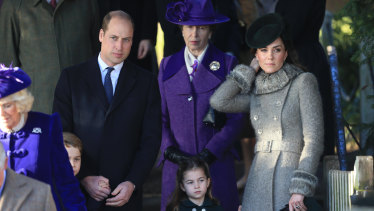 Prince William, Princess Anne, the Duchess of Cambridge and Princess Charlotte at Sandringham over Christmas,