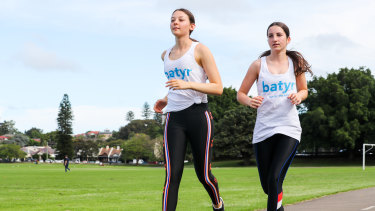 Sophie Malek and Chloe Lyons from Moriah College have signed up to run in on honour of their teacher Carli Freiberg, who died last year.