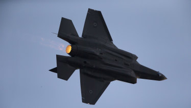 An Israeli Air Force F-35 plane