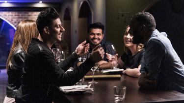 Strangers meet for a SocialTable dinner at Platform 818 in Sydney in May.