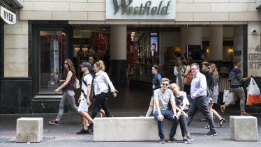 Reflecting the retail pain, Scentre (Westfield) reported a half-year loss of $3.61 billion.