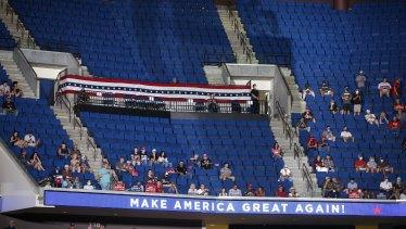 Empty seats at Donald Trump's Tulsa rally.