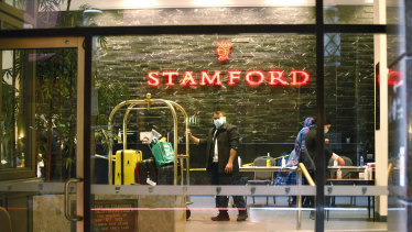 Melbourne's Stamford Hotel hosts guests in quarantine.