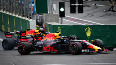 Ricciardo and Verstappen duelled furiously in the Azerbaijan Grand Prix in Baku last year.