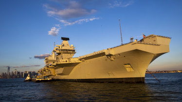 The HMS Queen Elizabeth, Britain's largest warship.