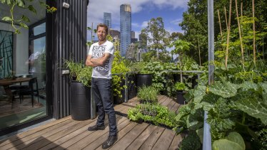 Joost Bakker at the pop-up Greenhouse at Federation Square.