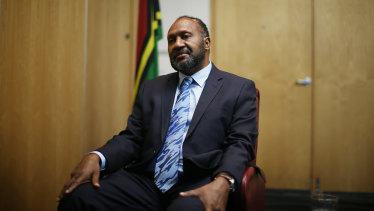 Vanuatu Prime Minister Charlot Salwai.