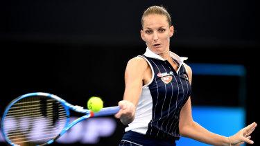 Karolina Pliskova advanced in Brisbane on Thursday.