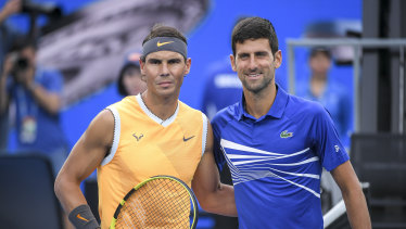 Nadal and Djokovic opened the year by meeting in the Australian Open final, won by the Serbian.