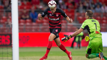 Headed in the right direction: Oriol Riera believes goals will come as Wanderers gel.