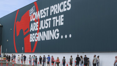 Bunnings has seen a surge in shoppers during the pandemic, with DIY spending skyrocketing.