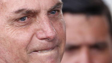 Hospitalised: Brazil's President Jair Bolsonaro.