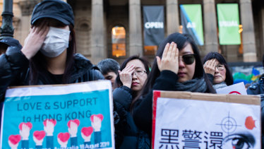 Hongkongers and Chinese students in Australia say they fear speaking out against Beijing.