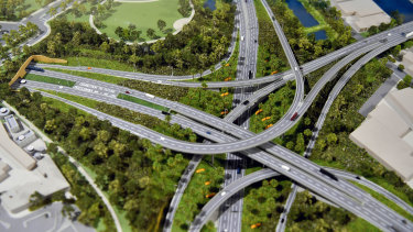 The St Peters spaghetti junction.