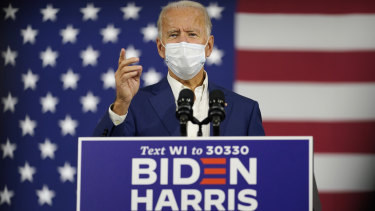 Democratic presidential candidate Joe Biden's lead in the polls is widening, increasing risk appetite on Wall Street.