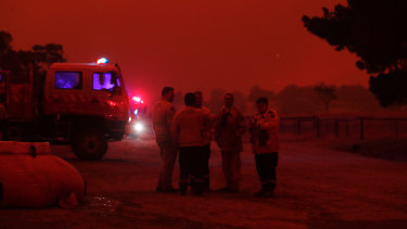 On the other side of the Snowy Mountains, RFS firefighters respond to the Adaminaby Complex bushfire on Saturday.